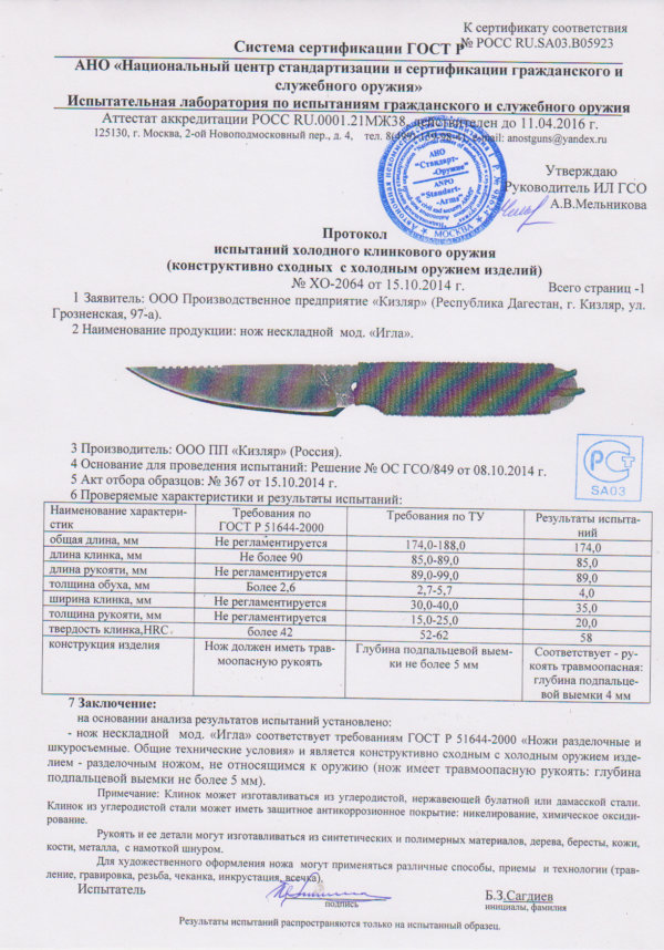 nozh-kizlyar