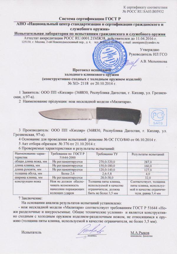 sertifikat-k-nozhu-kizlyar