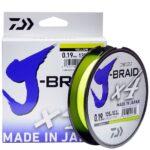 Плетёный шнур Daiwa J-Braid X4 Yellow 135m